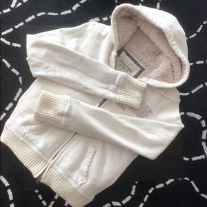 Abercrombie Fitch Fur Hoodie (white)